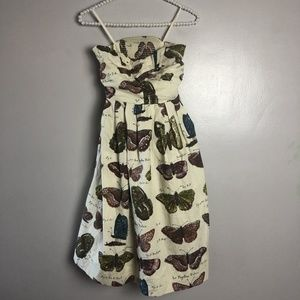 Anthropologie Maeve Lepidoptera Strapless Size 2